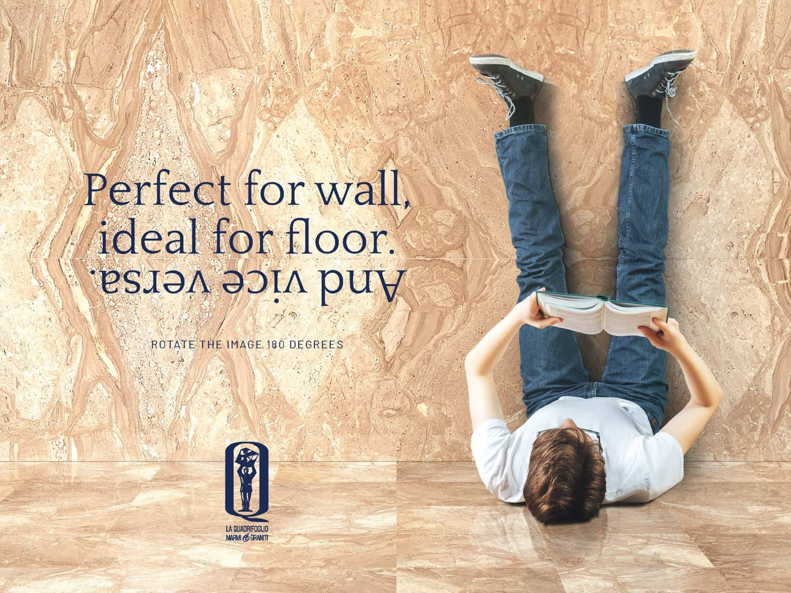 Perfect for wall, ideal for floor.<br> And vice versa.
